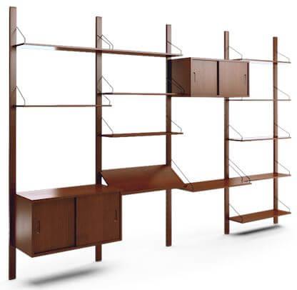 Trend  desk joybird mid century modern wall unit joybird