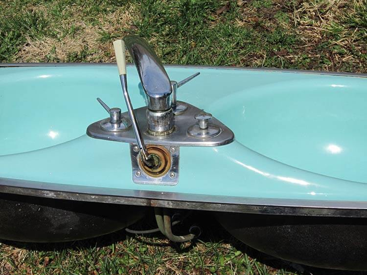 Wodd Wodder Woddest 1966 Aqua Porcelain Kitchen Sink With