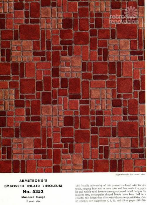 Armstrong Embossed Inlaid Linoleum flooring