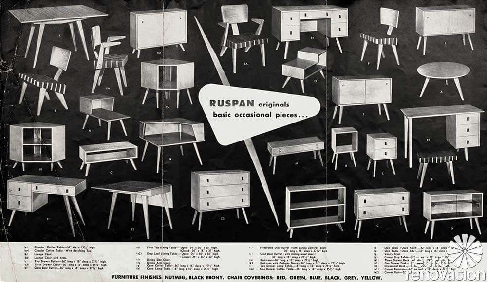 Vintage Furniture Advertisement 1950s