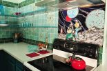 LuRu's midcentury sci-fi dream kitchen — with art tiles she makes by hand
