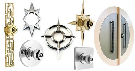 ... 3 sources for midcentury modern door backplates aka escutcheons + a DIY idea ...  sc 1 st  Retro Renovation & A rare Howard Pierce bird midcentury front door escutcheon - Retro ... pezcame.com