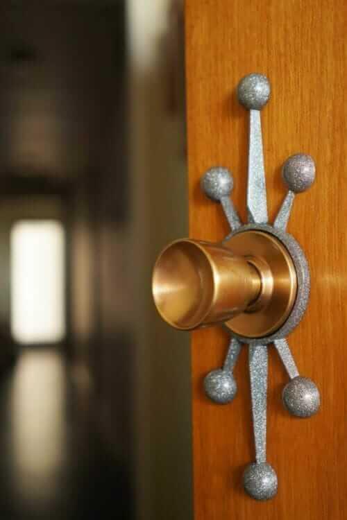 mid century door rosette