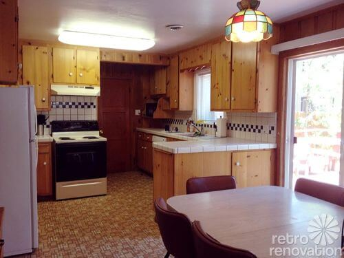 knotty-pine-kitchen-cabinet