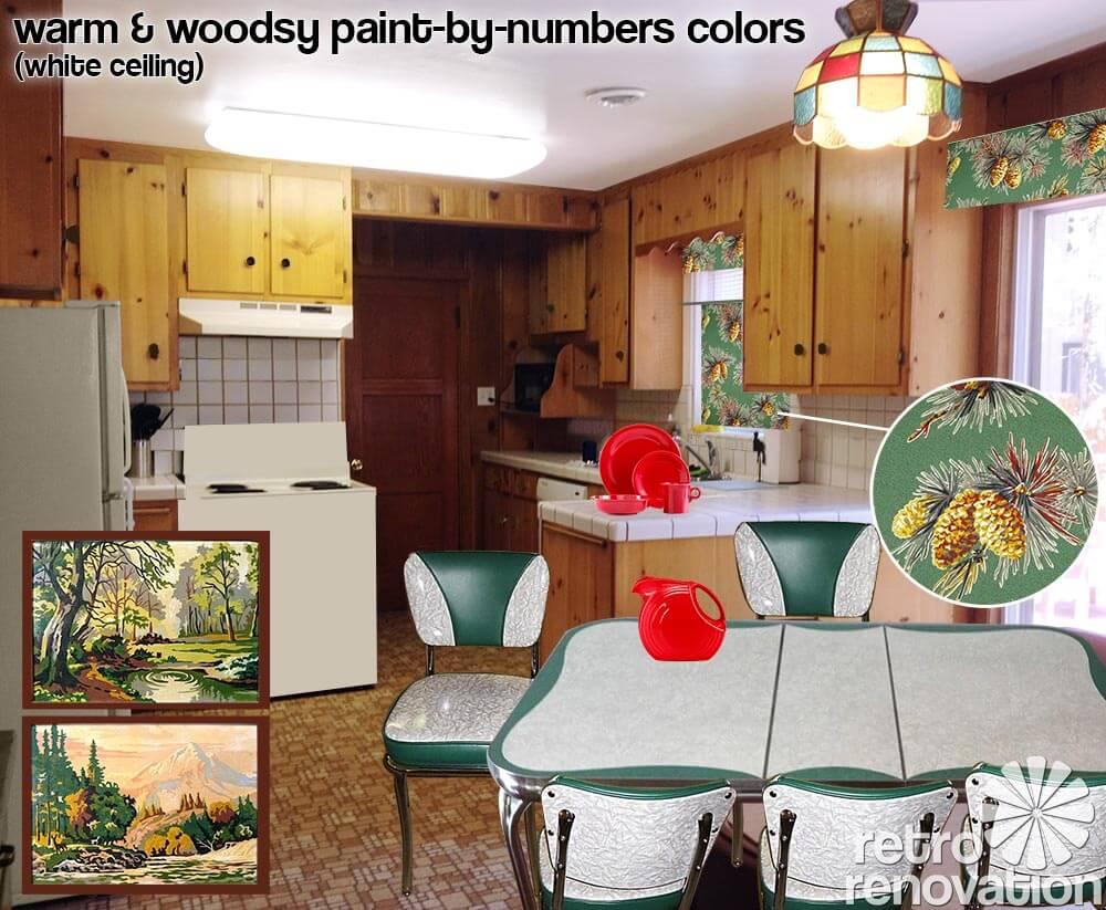 Retro Design Dilemma Choosing Colors For Michaela S Knotty Pine Kitchen