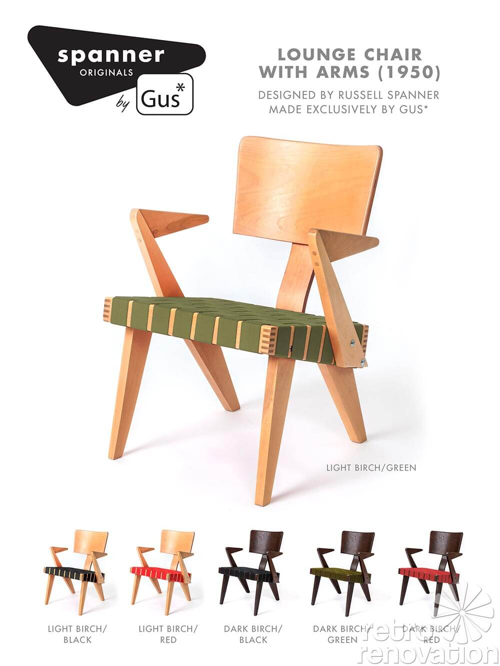 Groovy Gus Modern Revives 1950 Russell Spanner Designed Chair Creativecarmelina Interior Chair Design Creativecarmelinacom