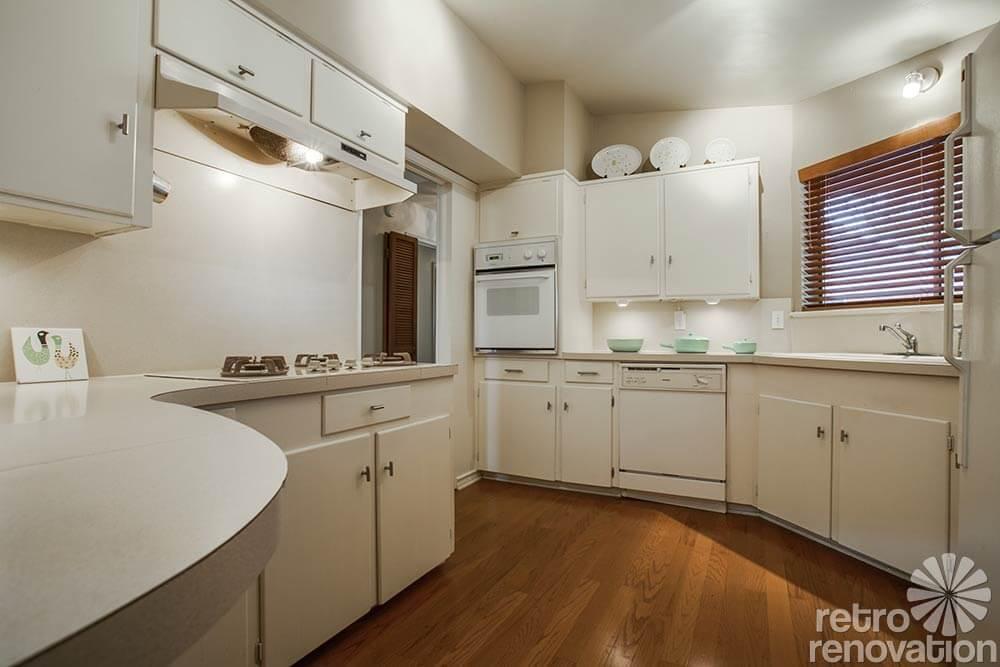 simple mid century kitchen