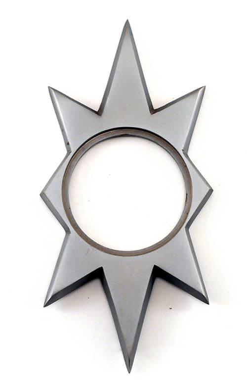 Retro Starburst Doorplate Mid Century Starburst Door Plate
