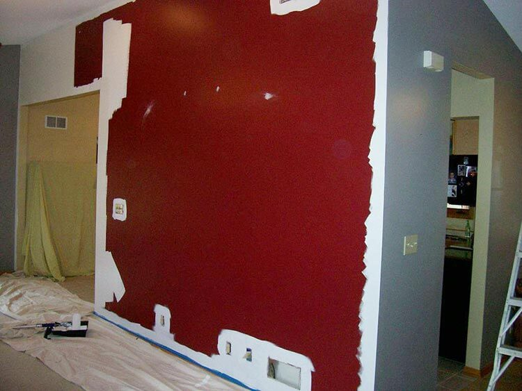 Jeffs Retro Modern Accent Wall Design Retro Renovation - Deep red accent wall