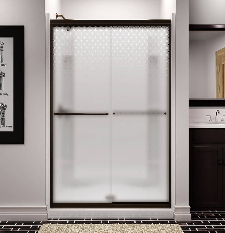 Retro Starburst Shower Door