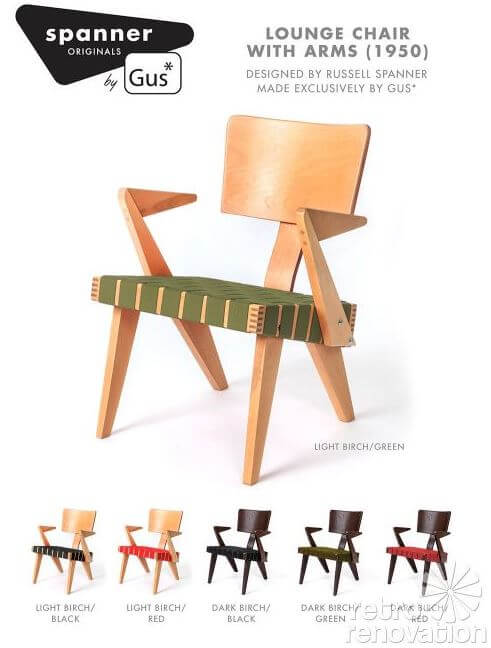 russell spanner chair by gus modern