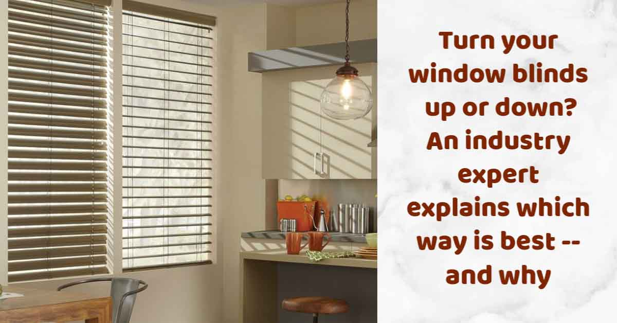 Turn window blinds up or down? An industry expert advises! - Retro