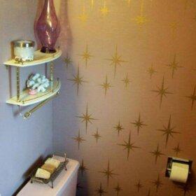 starburst stencil wall