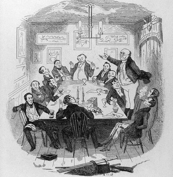 pickwick papers illustration