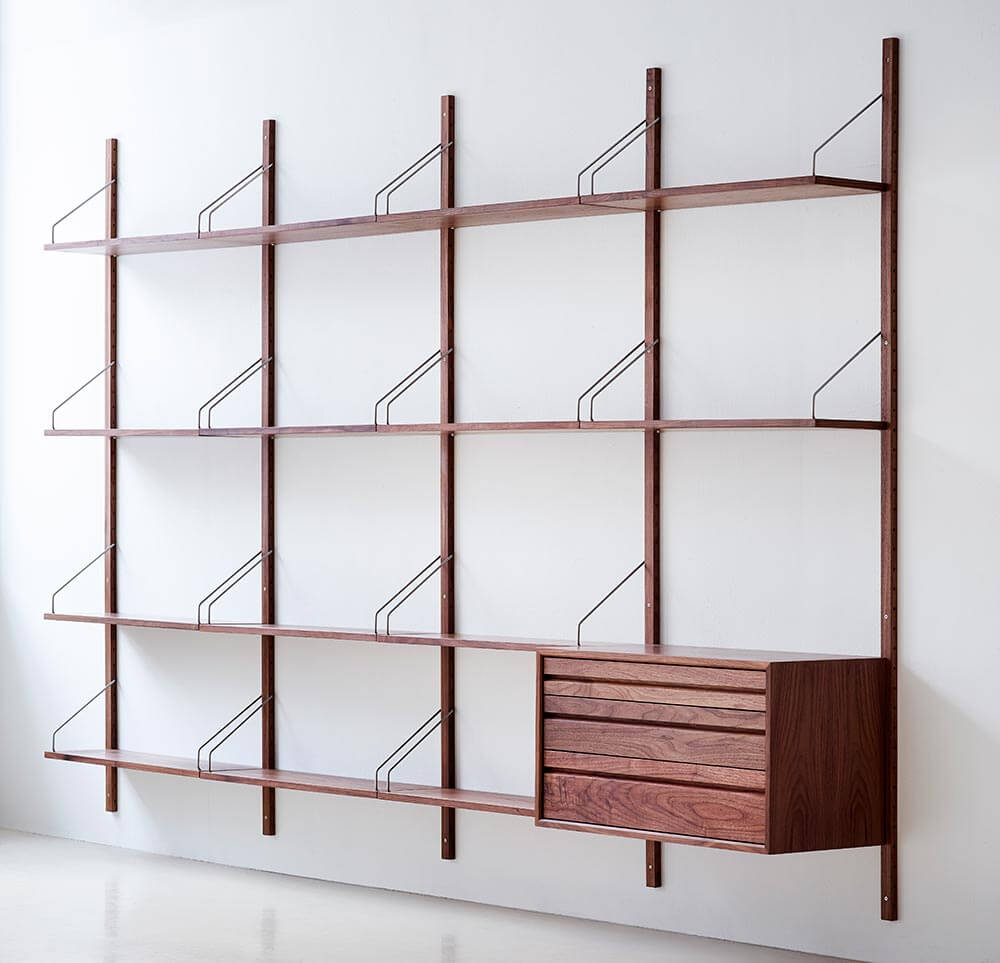 Royal System Shelving Designed By Poul Cadovius In 1948