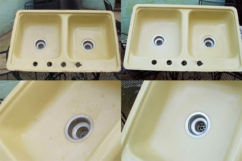 harvest gold kitchen sink