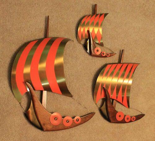 vintage viking ships