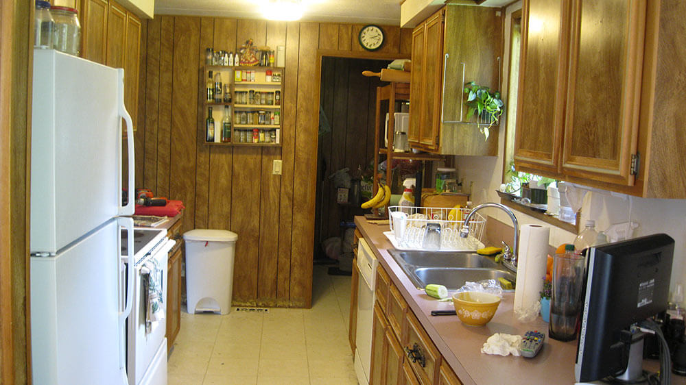 kitchen before renovation - 1970s Kitchen