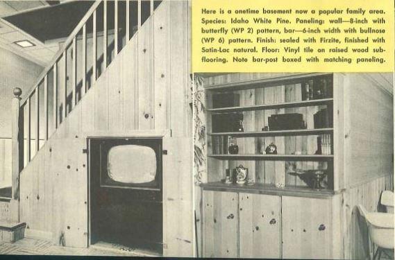 knotty pine basement
