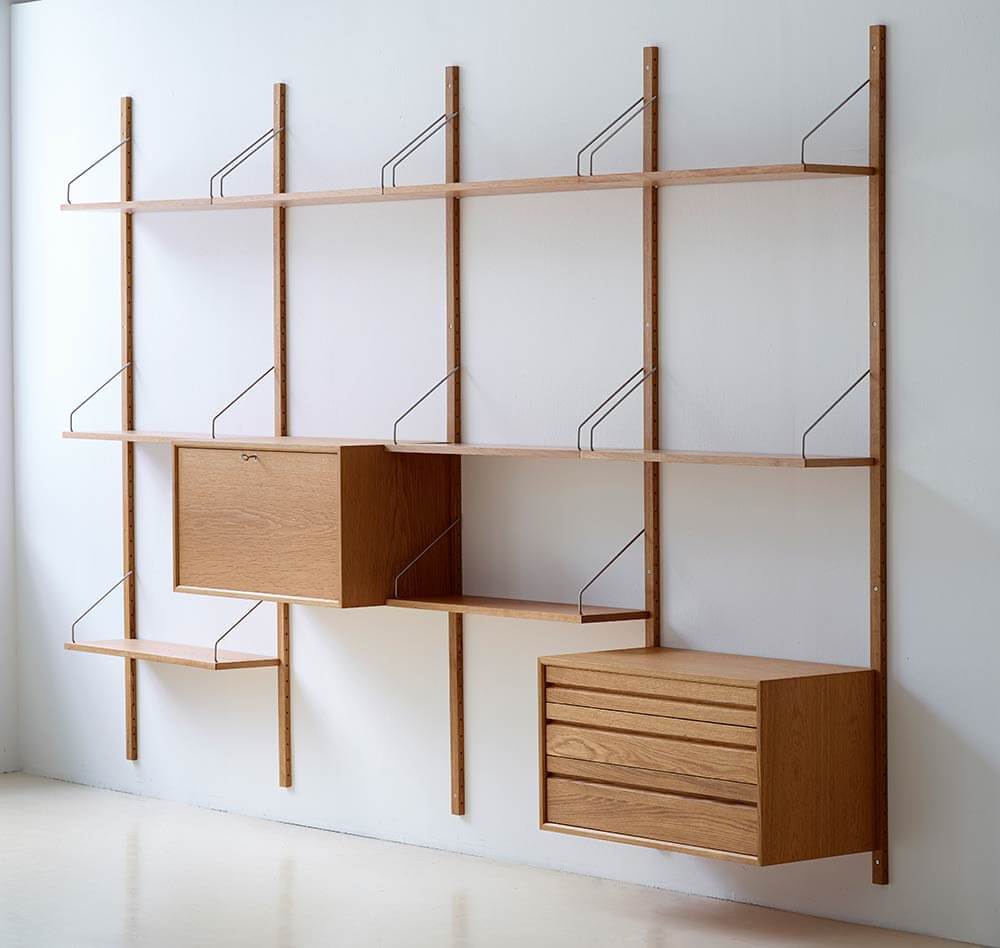 Royal System Shelving, Designed By Poul Cadovius In 1948