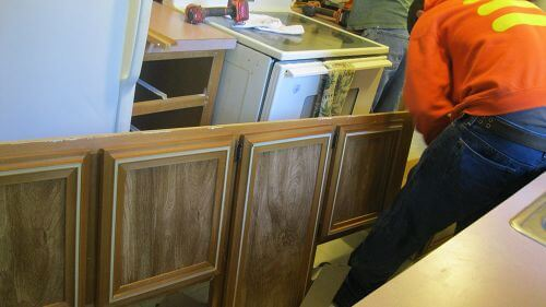 removing-old-cabinets