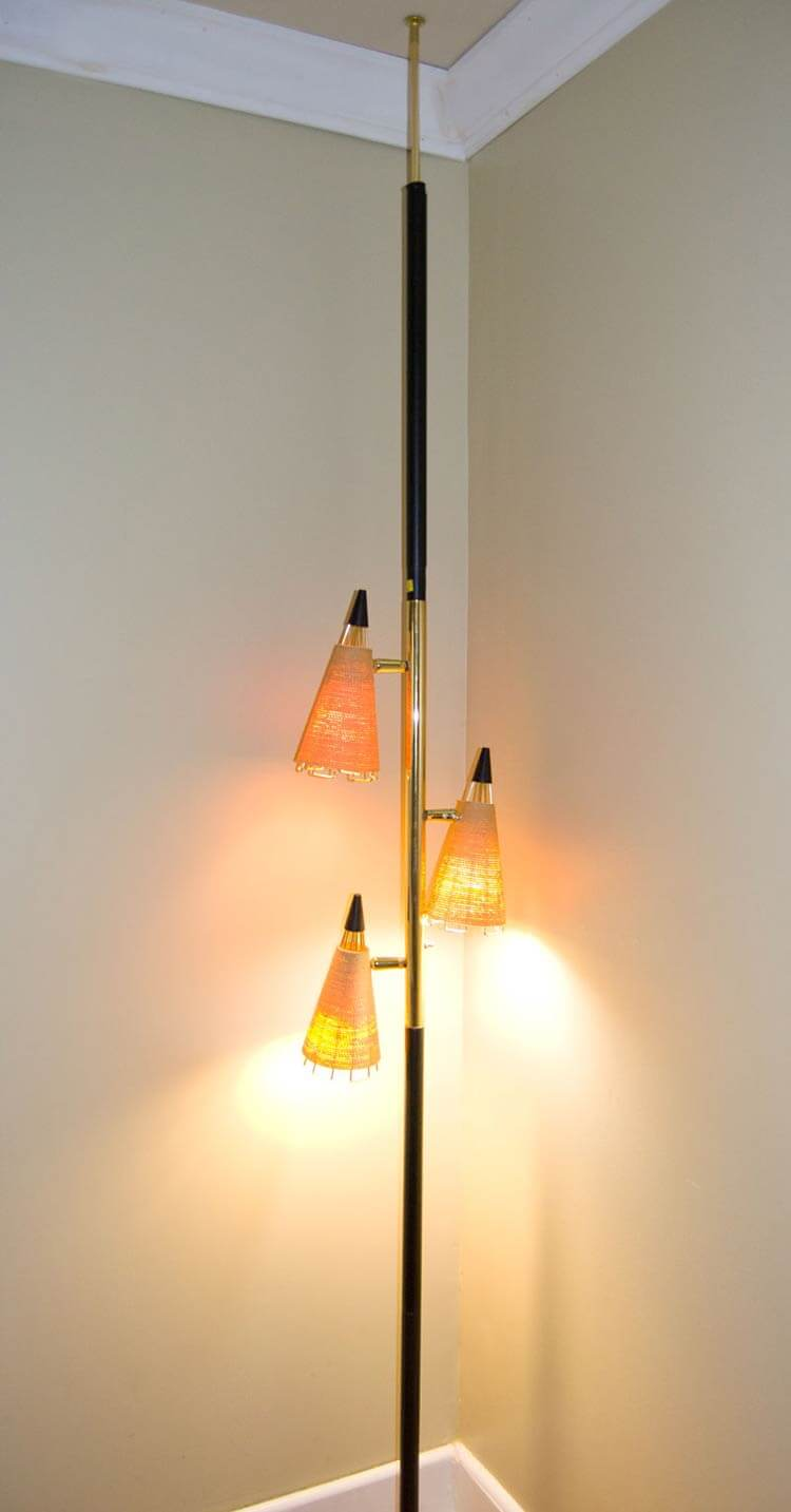 Draper 3 light mid century modern floor lamp for Draper 3 light tree floor lamp