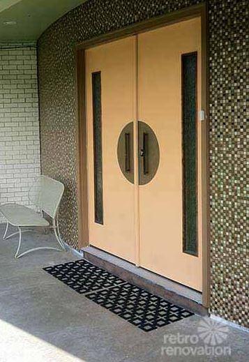 DIY mid century front door