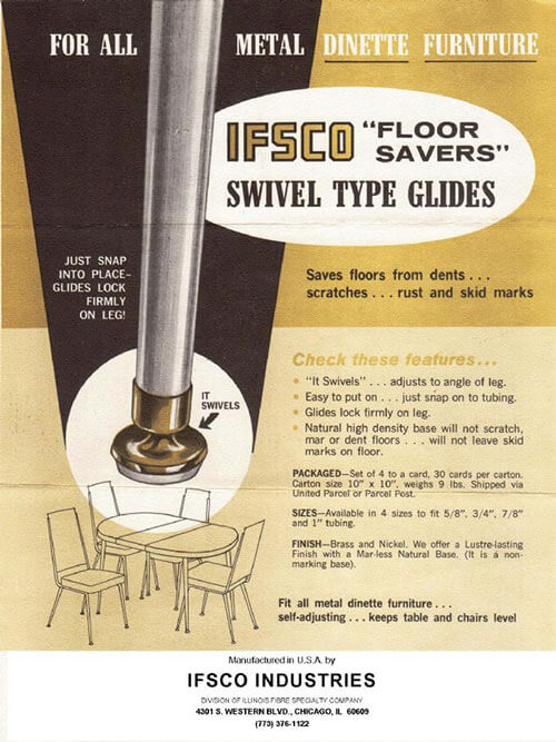 IFSCO Chair Glides Ad Vintage