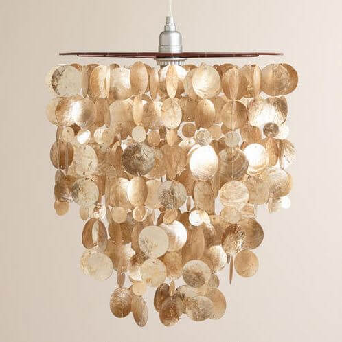 Another Option Instead Of Using A Shade With The Jute Rope Lamp Cord Try Shimmery Capiz Shell Lantern Fixture Reflective Shells Add Movement