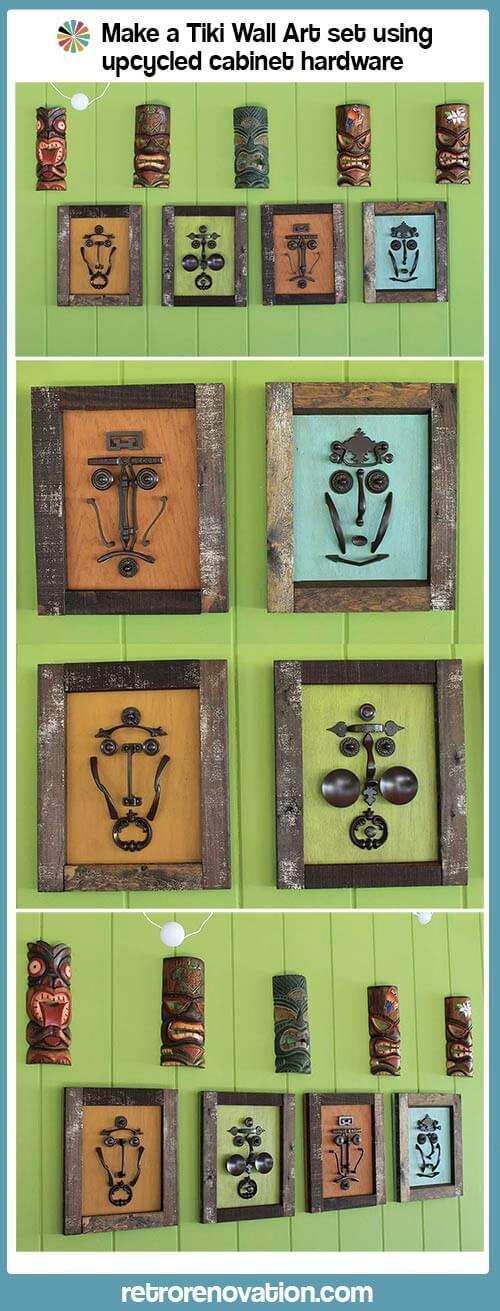 Spectacular Make a tiki mask set with vintage kitchen cabinet knobs and pulls Retro Renovation