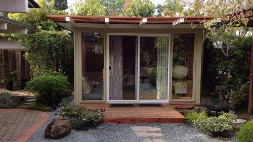 mid century modern eichler shed