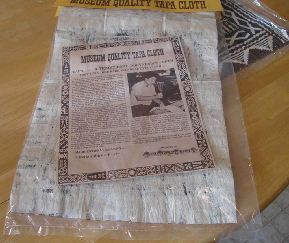 description of museum quality tapa cloth