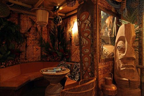 Tiki Pop exhibition Tiki bar