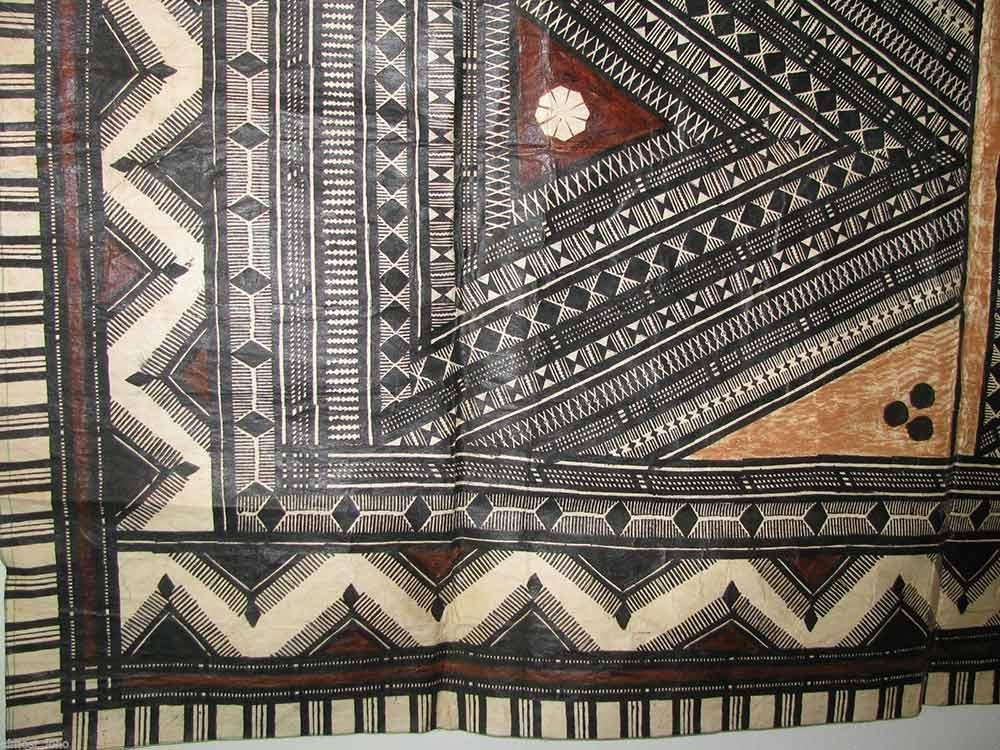 tapa cloth design detail