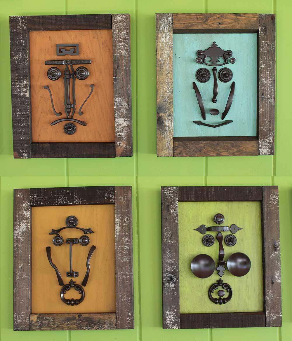 Make A Tiki Mask Set With Vintage Kitchen Cabinet Knobs