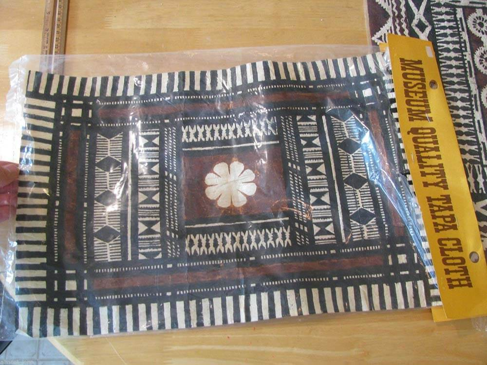 museum quality tapa cloth in original packaging
