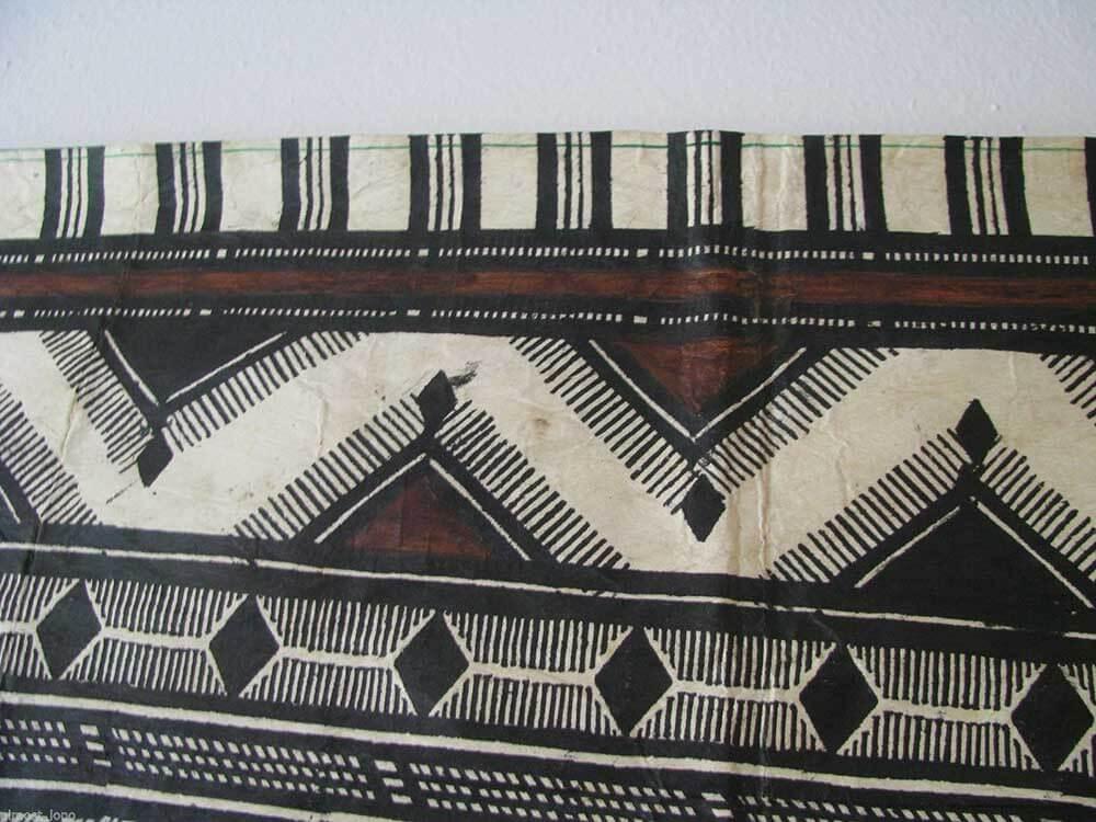 vintage tapa cloth design detail