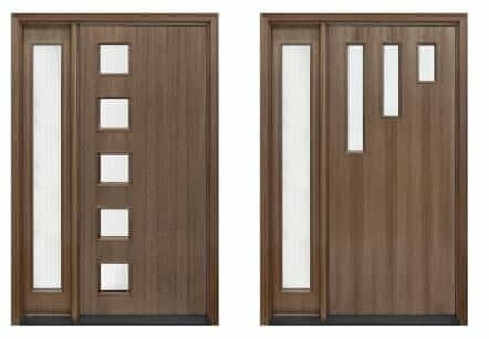 mid century modern front doors with door lites