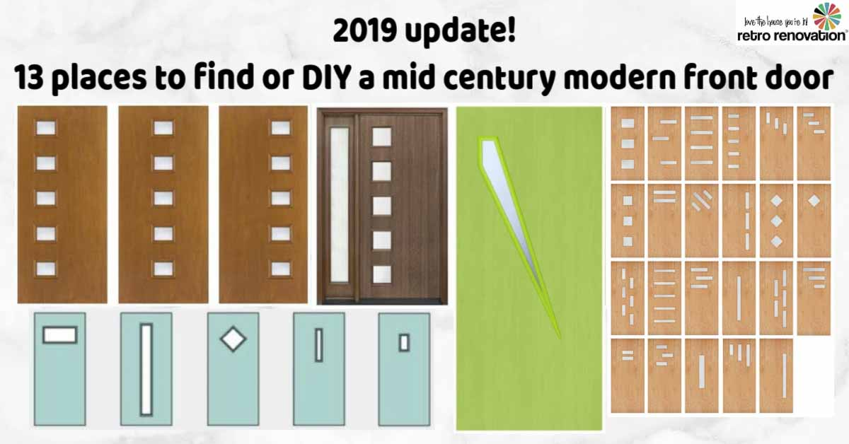 14 Places To Or Diy Mid Century Modern Front Doors