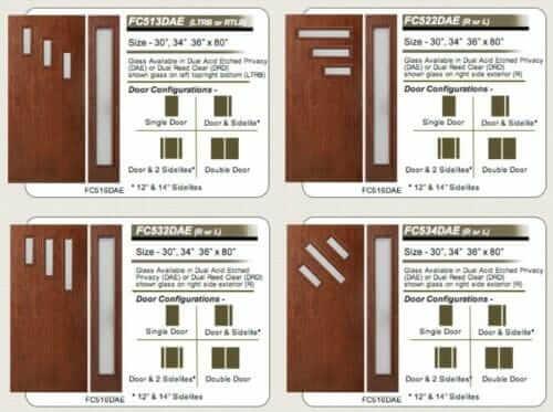 16 styles mid century modern front doors escon