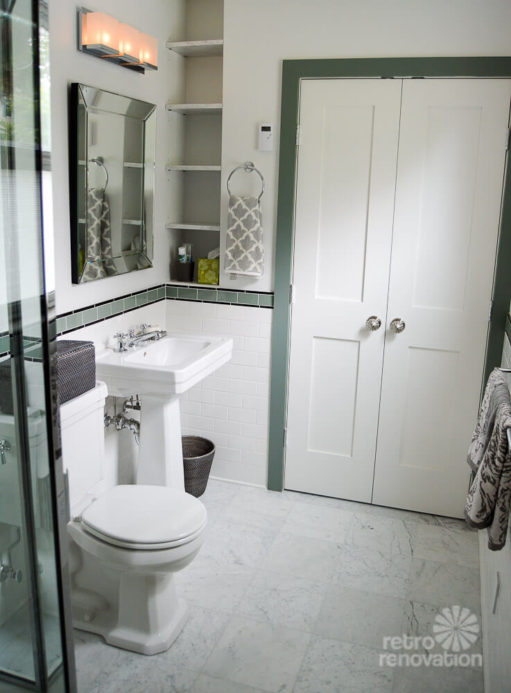 Amy 39 s 1930s bathroom remodel classic and elegant retro for Bathroom ideas 1920s home