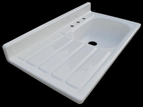 retro kitchen sink with drainboard reproduction 1955 drainboard kitchen sink new from 7780