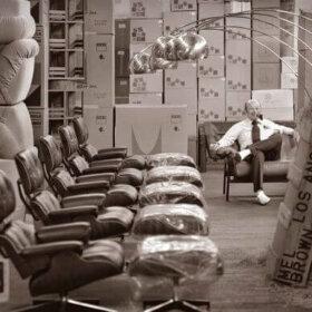Mel Brown of Mel Brown Furniture with Herman Miller furniture