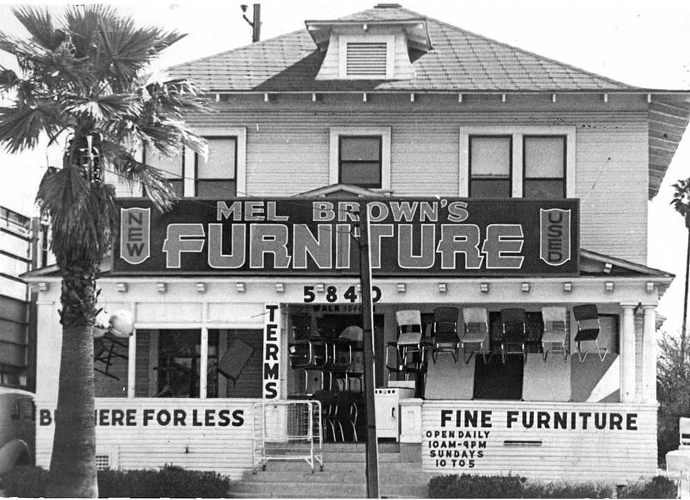 Mel Brown Furniture first store