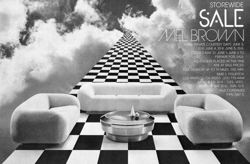 Mel Brown Furniture ad