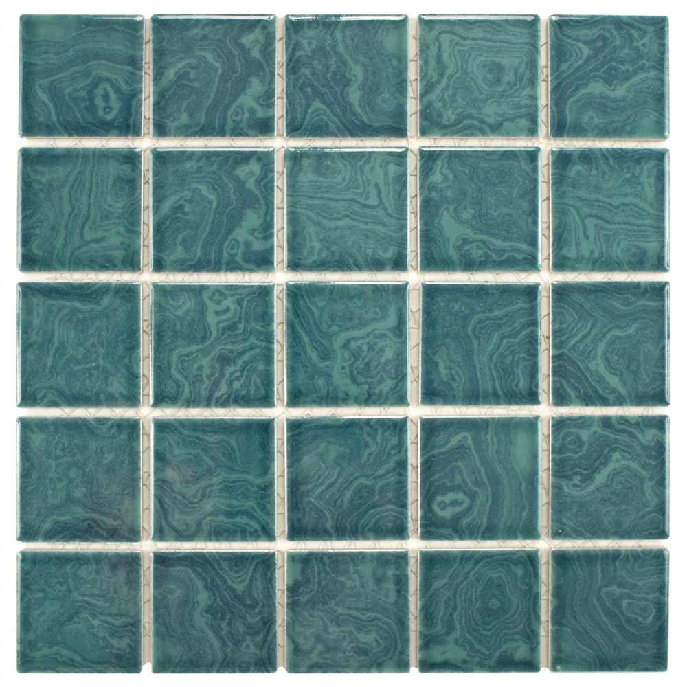 Earthy and colorful 1970s style wall and floor tile pretty merola tile resort palm green dailygadgetfo Choice Image