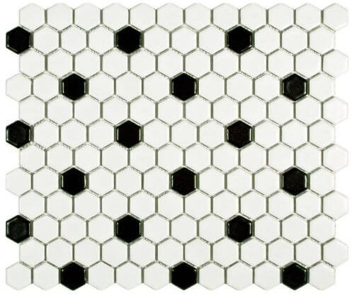 black-and-white-hex-tile