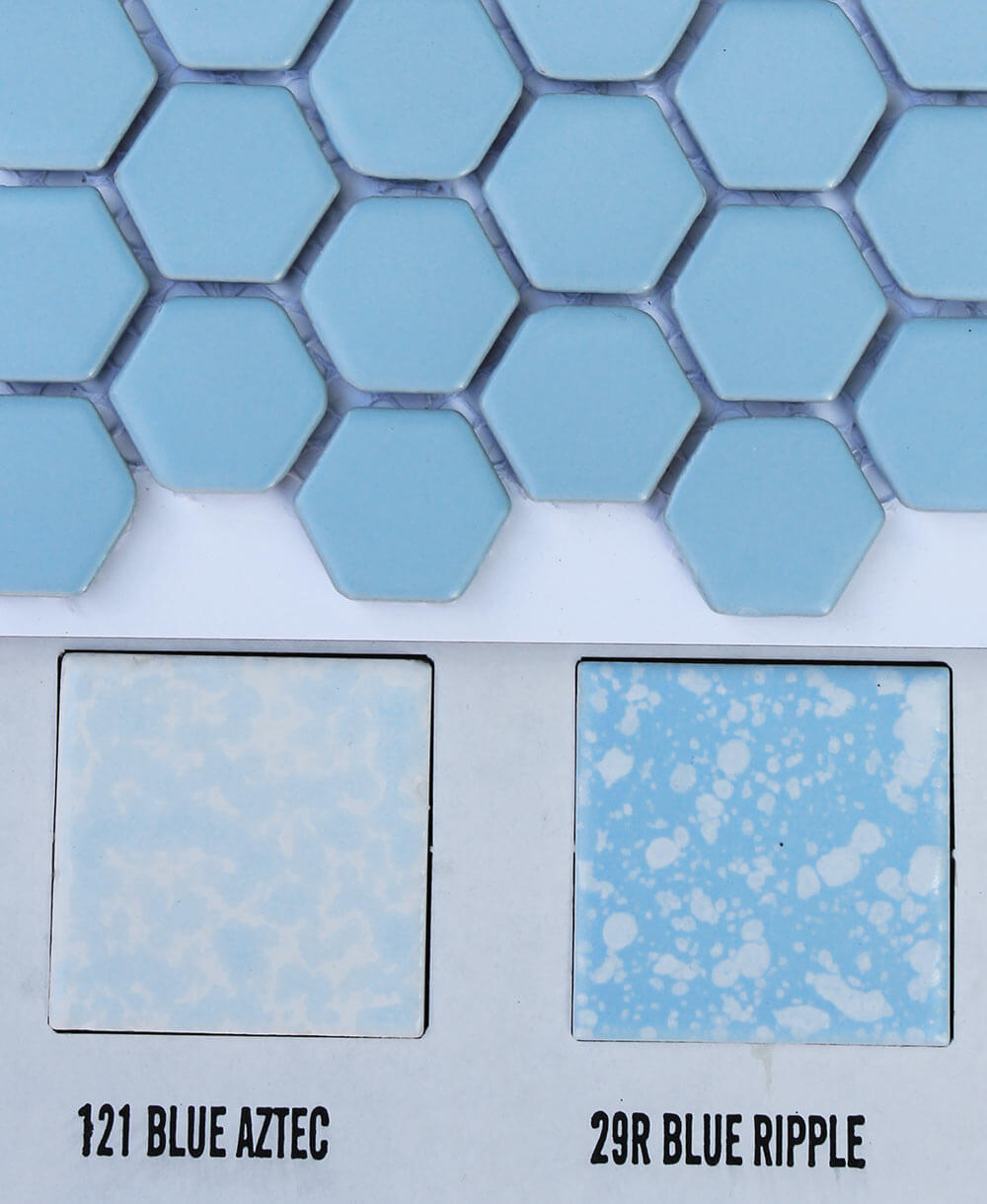 2 new porcelain hex tile floor options for your vintage pastel blue hex ceramic tile dailygadgetfo Choice Image