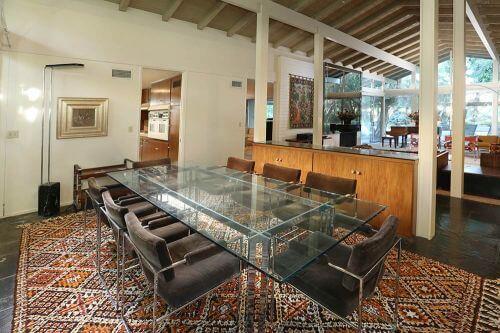 milo baughman dining room