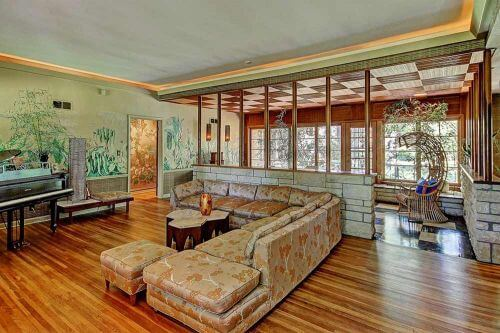 midcentury-wall-mural-living-room